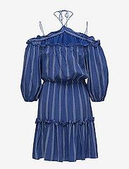 DESIGNERS, REMIX - Viola Off-shoulder - midi kjoler - stripes - 1