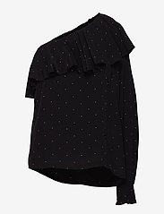 DESIGNERS, REMIX - Leana One-Shoulder Top - langærmede bluser - black/yellow dot - 0