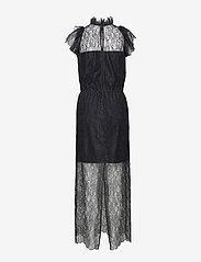 DESIGNERS, REMIX - Long ruffled lace dress - kveldskjoler - black - 1