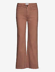 High-rise straight-leg cropped jeans - BROWN