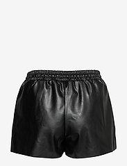 DESIGNERS, REMIX - Leather free leather shorts with elasticated waist - skinn shorts - black - 2
