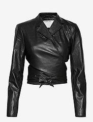 DESIGNERS, REMIX - Marie Wrap Jacket - skinnjackor - black - 1