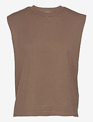 DESIGNERS, REMIX - Mandy Muscle Tee - strikkede toppe - taupe - 1