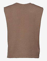 DESIGNERS, REMIX - Mandy Muscle Tee - strikkede toppe - taupe - 2
