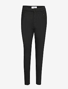 Loose fit pants - suorat housut - black