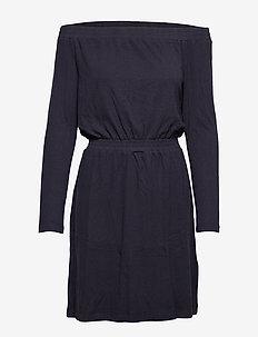 Jeny Off-shoulder - korte kjoler - navy
