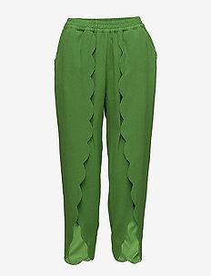 Mattie Scallop Pants - slim fit bukser - green