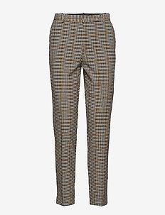 Babette Suit - slim fit bukser - yellow/black check