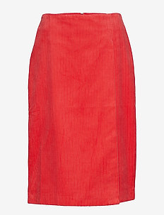 Tessa Pencil - midi - lipstick red