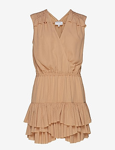 Byron Ruffle Shirt - slå-om-kjoler - caramel