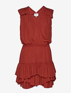 Byron Ruffle Shirt - slå-om-kjoler - ox blood