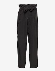 Veronique Pleat Pants - raka byxor - black