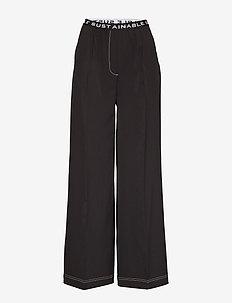 Veronique Elastic Pants - vida byxor - black