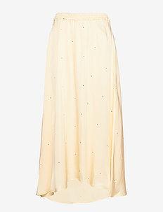 Kevin Maxi Skirt - maksihame - yellow w black dot