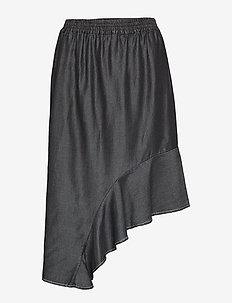 Polly Skirt - BLACK DENIM