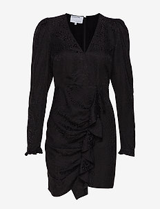 Ruben Wrap Dress - BLACK
