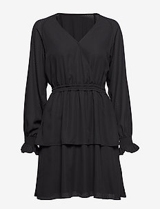 Byron Wrap Dress - BLACK