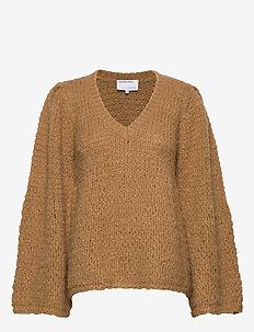 Caress V-neck Sweater - trøjer - camel
