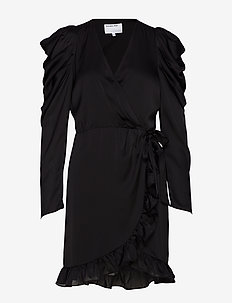 Laura Wrap Dress - BLACK