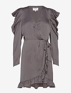 Laura Wrap Dress - DARK GREY