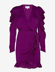 Laura Wrap Dress - FUCSHIA