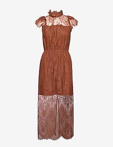Melissa Long Dress - MAHOGANY