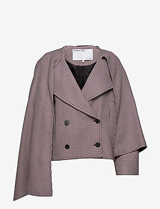 Debra Short Coat - villakangastakit - check
