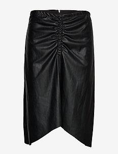 Tara Midi Skirt - BLACK