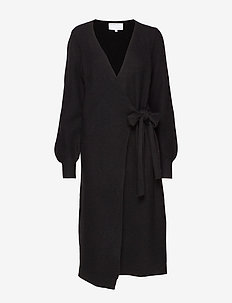 Silvia Wrap Dress - omlottklänning - black