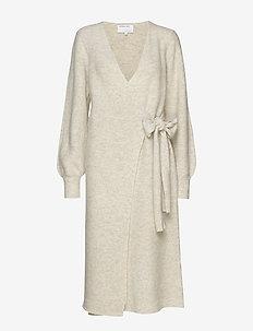 Silvia Wrap Dress - OATMEAL