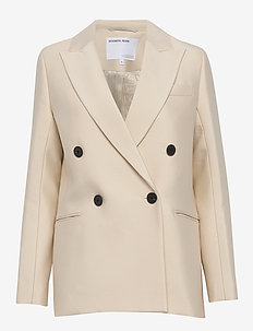 Double breasted blazer - kavajer - cream