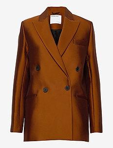 Double breasted blazer - oversize-bleiserit - mahogany