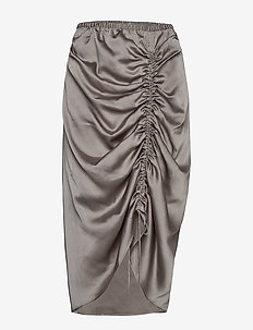 Ruched pencil skirt - GREY