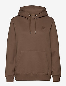 Logo embroidered jersey hoodie - hoodies - khaki