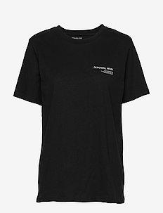 Logo printed jersey T-shirt - BLACK
