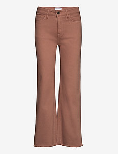 High-rise straight-leg cropped jeans - straight jeans - brown