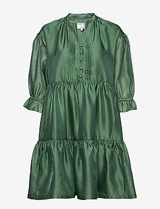 Voluminous tiered dress - korte kjoler - dusty green