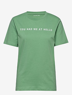 Printed recycled cotton T-shirt - t-shirts - dusty green
