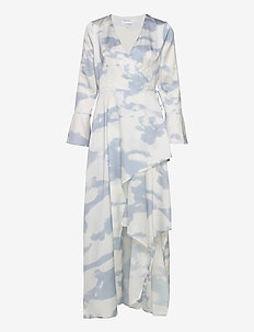 Kacy Long Wrap Dress - maxi kjoler - print
