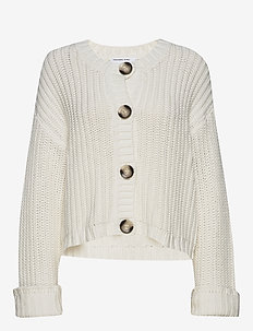 Chunky cardigan with large buttons - koftor - cream