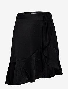 Frigg Ruffle Skirt - midi skjørt - black