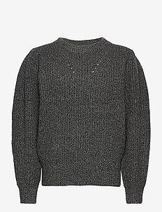 Silvia Sleeve Knit - gensere - dark grey melange