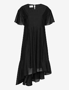 Sonia Volume Dress - midi kjoler - black