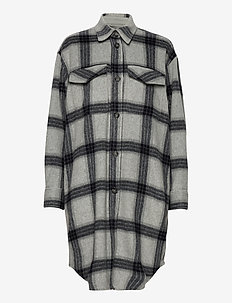 Amara Shirt Coat - overshirts - check