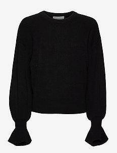 Mandy Sleeve Sweater - trøjer - black