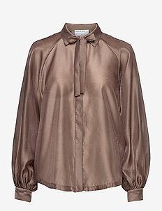 Enola Sleeve Shirt - langermede bluser - taupe