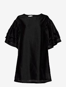 Enola Sleeve Dress - kortärmade blusar - black