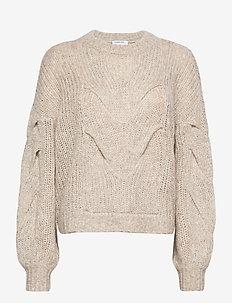 Antico Cable Sweater - trøjer - ecru
