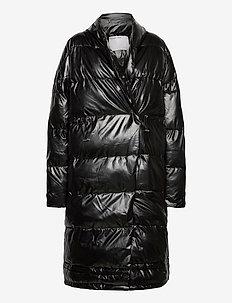 Lunga Puffer Long Coat - dunkappor - black