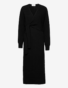 Silvia Dress - strikkjoler - black